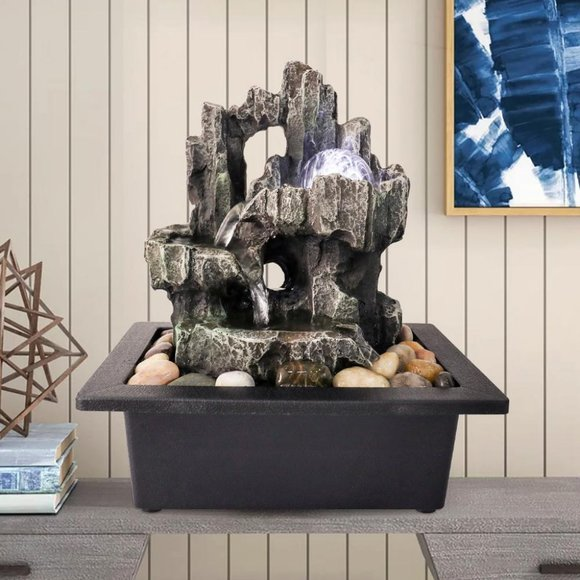 Watnature Accents Rock Water Fountain Indoor Tabletop With Led Light Poshmark